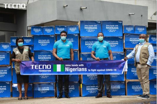 TECNO Foundation Supports Health Care Workers in The Fight Against COVID-19, Donates Medical Supplies To The NCDC, Conquest Online Magazine