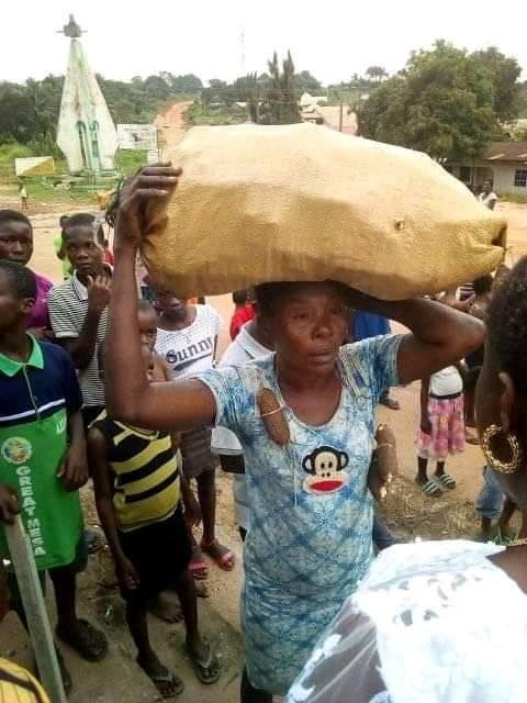 Is This Right? Lady Caught Stealing Cassava Paraded Round The Village In Abia State (Photos), Conquest Online Magazine