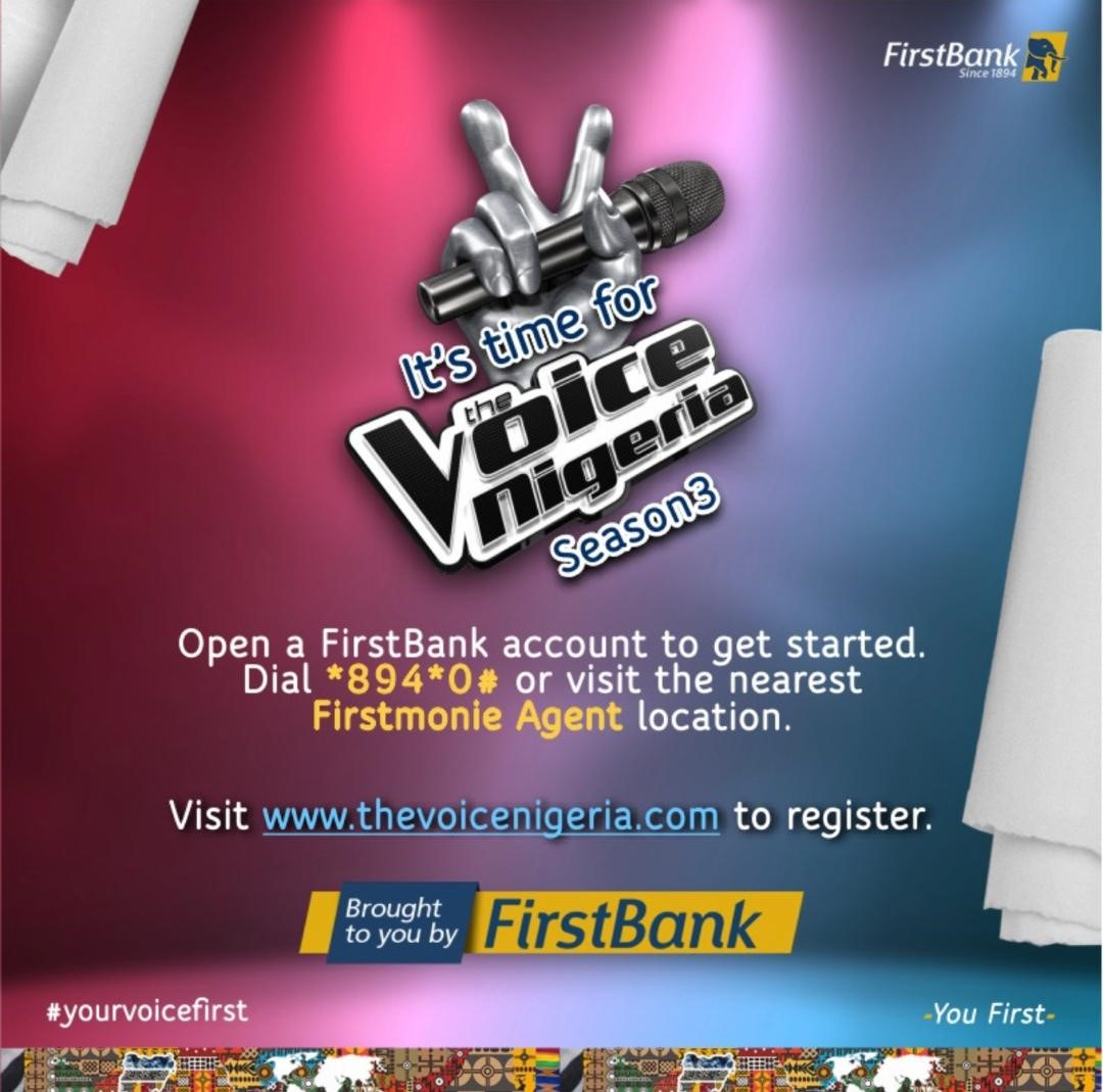 Firstbank Partners Unity Nigeria, Promotes Growth Of The Nigerian Music With The Voice Nigeria Season 3, Conquest Online Magazine