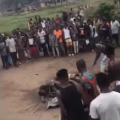 Two suspected armed robbers were beaten and set ablaze by angry residents, Conquest Online Magazine
