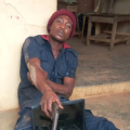 An armed robbery suspect Adeolu Bankole who operates while wearing the uniform of the Nigeria Security and Civil Defence, Conquest Online Magazine