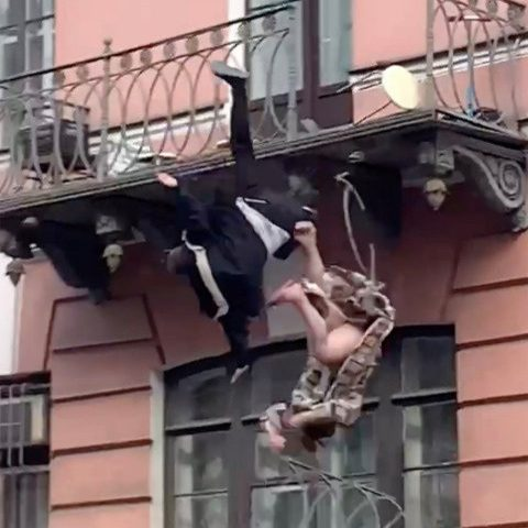 A couple smashed through their balcony railings and fell 25ft to the pavement below while, Conquest Online Magazine