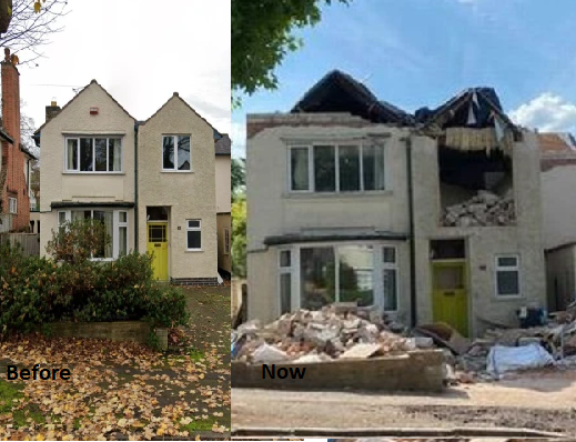 A builder has destroyed the house he built because the owner, who is on holiday, refused to pay, Conquest Online Magazine